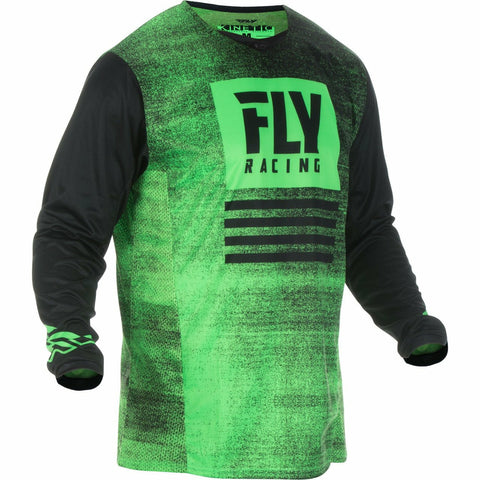 Fly Racing Kinetic Noiz Jersey Jersey Fly Racing NEON GREEN/BLACK YX