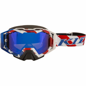 Klim Viper Pro Snow Goggle - New Goggles Klim Viper Pro Snow Goggle Patriot Pledge Dark Smoke Blue Mirror