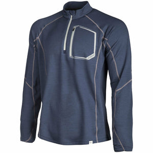 Klim Teton Merino Wool 1/4 Zip Shirt Layers Klim Blue SM
