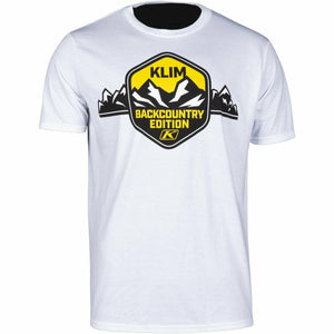 Klim Backcounty Edition SS T - New T-Shirt Klim Backcounty Edition SS T SM White - Yellow