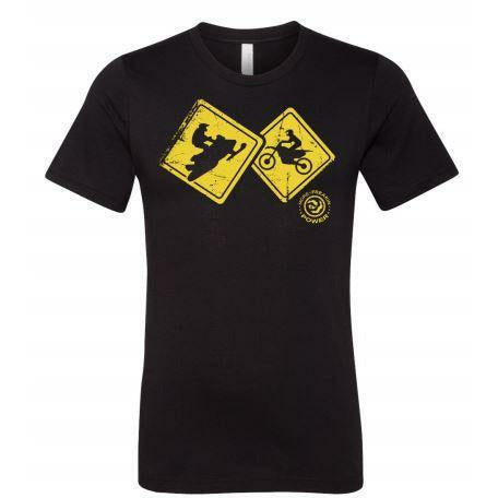 MFP Caution Signs Tee Casual MoreFreakinPower Black SM