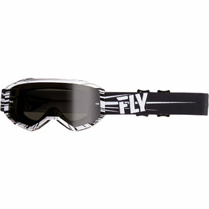 Fly Racing 2019 Zone Goggle Goggles Fly Racing BLACK/WHITE W/DARK SMOKE LENS ADULT