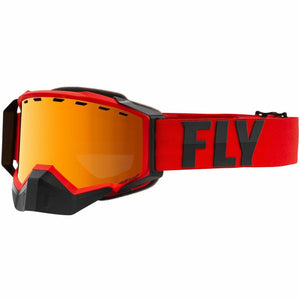 Fly Racing Zone Pro Snow Goggle 21 Fly Racing 2021 Red/Grey W/Orange/Polarized Smoke Lens 21