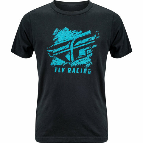Fly Racing Boy's Crayon Tee T-Shirt Fly Racing BLACK YM