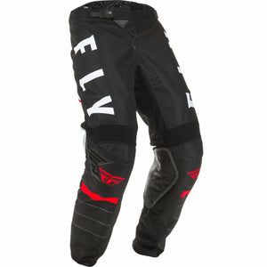 Fly Racing Youth Kinetic K120 Pants Fly Racing Off-Road Black/White/Red 18