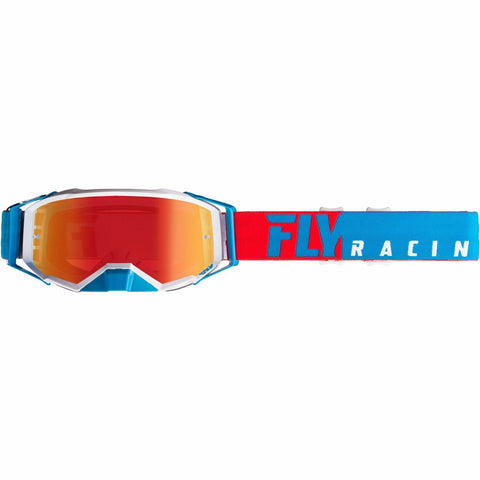 Fly Racing 2019 Zone Pro Goggle Goggles Fly Racing RED/WHITE/BLUE W/RED MIRROR LENS