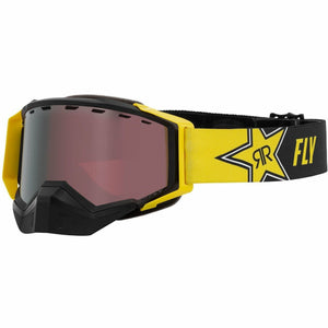 Fly Racing Zone Snow Goggle 21 Fly Racing 2021 Rockstar W/Silver Mirror/Rose Lens 21