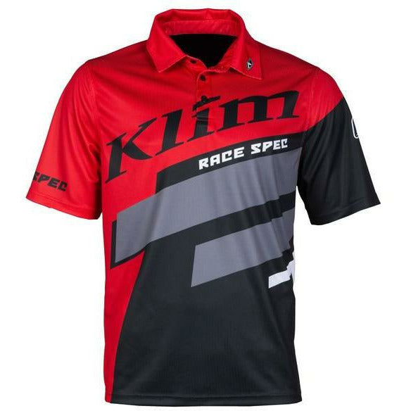 Klim Race Spec Polo - New T-Shirt Klim High Risk Red SM