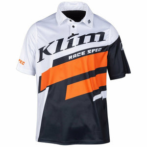 Klim Race Spec Polo - New T-Shirt Klim White SM