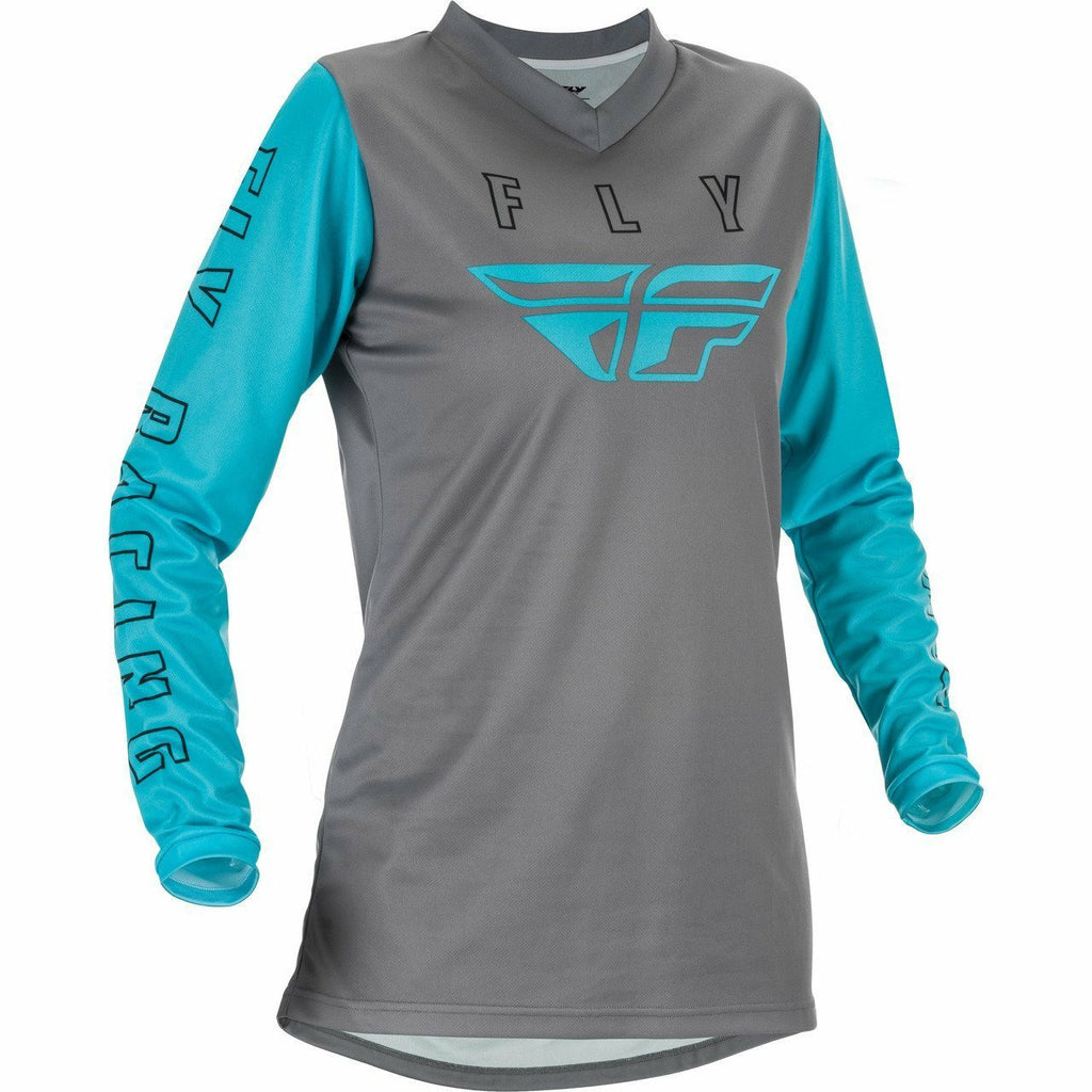 Fly Racing Youth F16 Jersey 21 Fly Racing 2021 GREY/BLUE YL