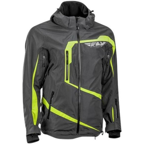 Fly Racing Carbon Jacket 2019 Jacket Fly Racing Grey/Hi-Vis 2X