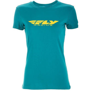 Fly Racing Women's Corporate Tee T-Shirt Fly Racing TEAL 2X
