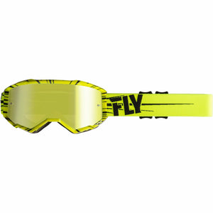 Fly Racing 2019 Zone Goggle Goggles Fly Racing HI-VIS YELLOW /BLACK W/GOLD MIRROR LENS ADULT