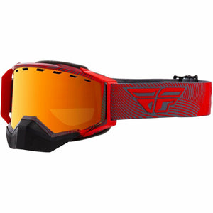 Fly Racing Zone Snow Goggle 21 Fly Racing 2021 Red/Grey W/Orange Mirror/Smoke Lens 21