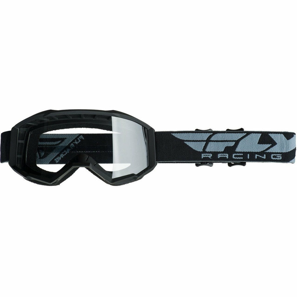Fly Racing 2019 Focus Goggle Goggles Fly Racing BLACK W/CLEAR LENS Youth