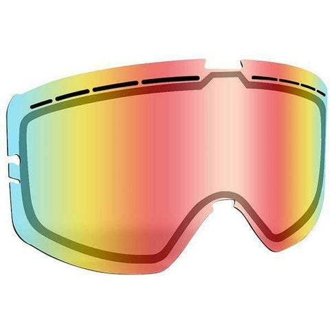 509 Kingpin Goggle Replacement Lens - Fire Mirror/Clear Tint