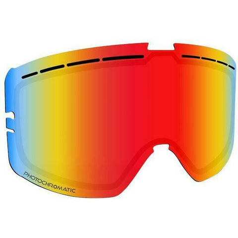 509 Kingpin Goggle Replacement Lens - Fire Mirror/Photochromatic Orange to Dark Blue Tint