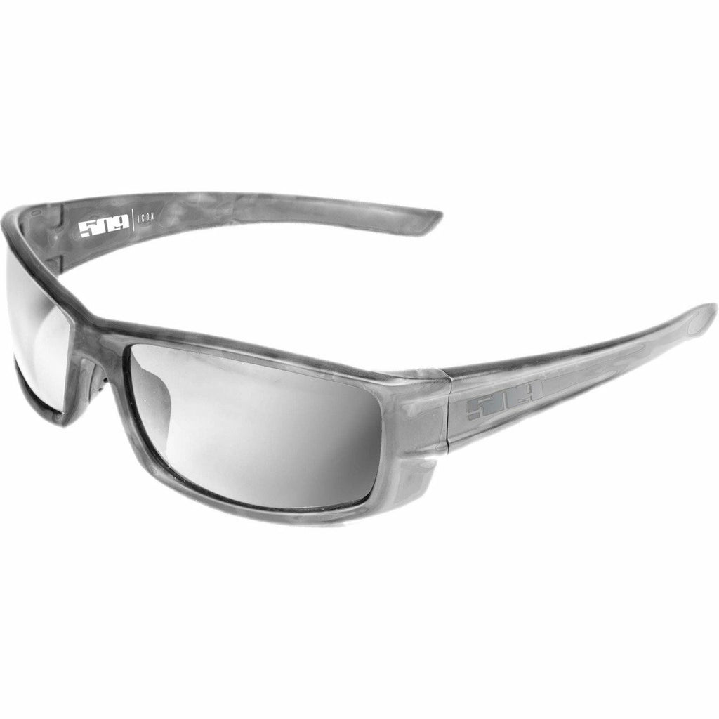 509 Icon Polarized Sunglasses Sunglasses 509 Lucent Gray Polarized Chrome Mirror