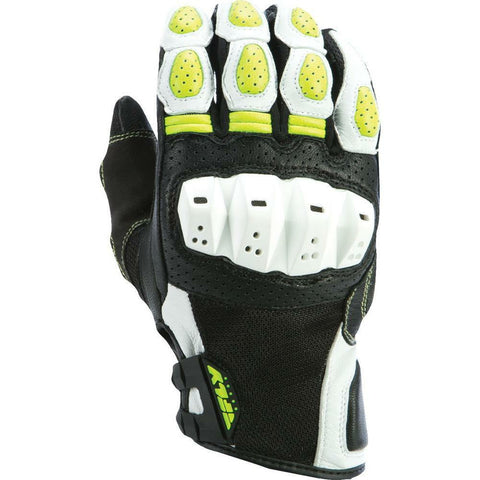 Fly Racing Brawler Gloves Gloves Fly Racing WHITE/HI-VIS 3X