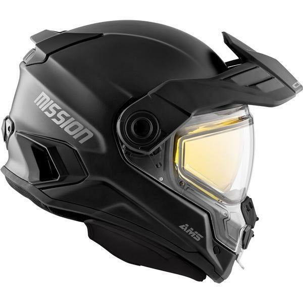 CKX MISSION AMS FULL FACE HELMET SOLID - WINTER Helmet CKX Electric Double Shield Black XS