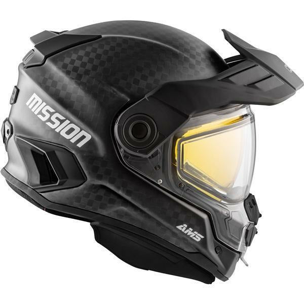 CKX MISSION AMS FULL FACE HELMET - CARBON SOLID - WINTER Helmet CKX Black XS Double Shield