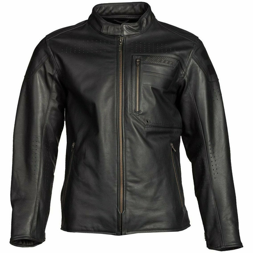 Klim Sixxer Leather Jacket Jacket Klim Gunmetal Black 2X