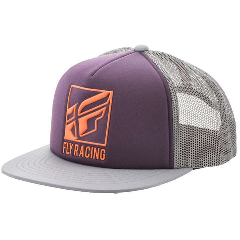 Fly Racing Lumper Hat Hat Fly Racing PURPLE/GREY