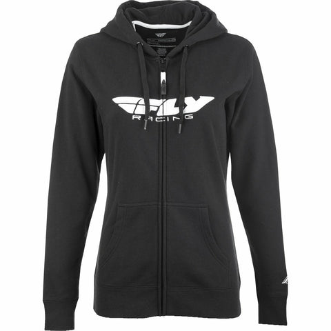 Fly Racing Women's Corporate Zip Up Hoodie Hoodie Fly Racing BLACK 2X