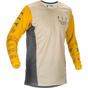 Fly Racing Youth Kinetic K121 Jersey 21 Fly Racing 2021 MUSTARD/STONE/GREY YL