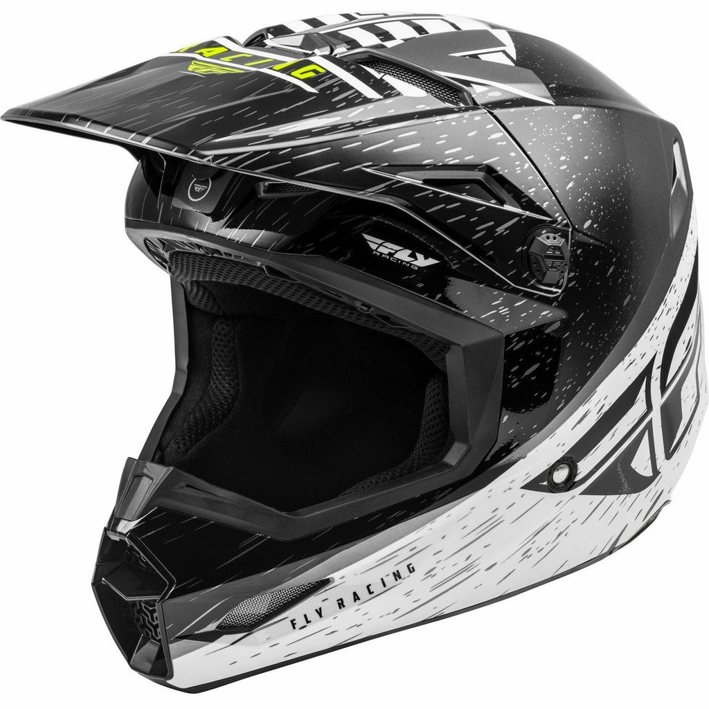 Fly Racing Kinetic K120 Helmet 2020 Helmet Fly Racing BLACK/WHITE/HI-VIS 2X