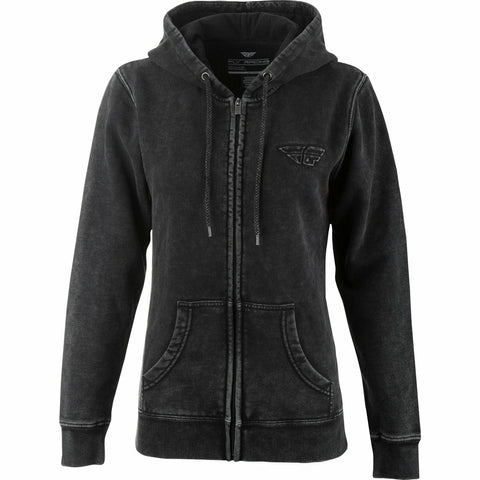 Fly Racing Women's Snow Wash Hoodie Hoodie Fly Racing BLACK 2X