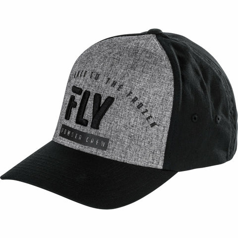 Fly Racing Powder Crew Flex Fit Hat Hat Fly Racing HEATHER SM/MD