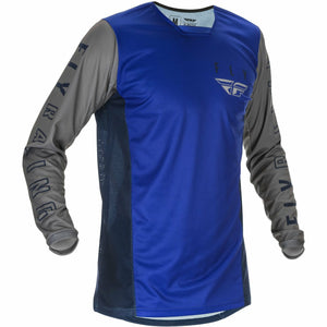 Fly Racing Youth Kinetic K121 Jersey 21 Fly Racing 2021 BLUE/NAVY/GREY YL