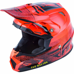 Fly Racing Toxin MIPS Embargo Motocross Helmet Helmet Fly Racing NEON RED/BLACK XS