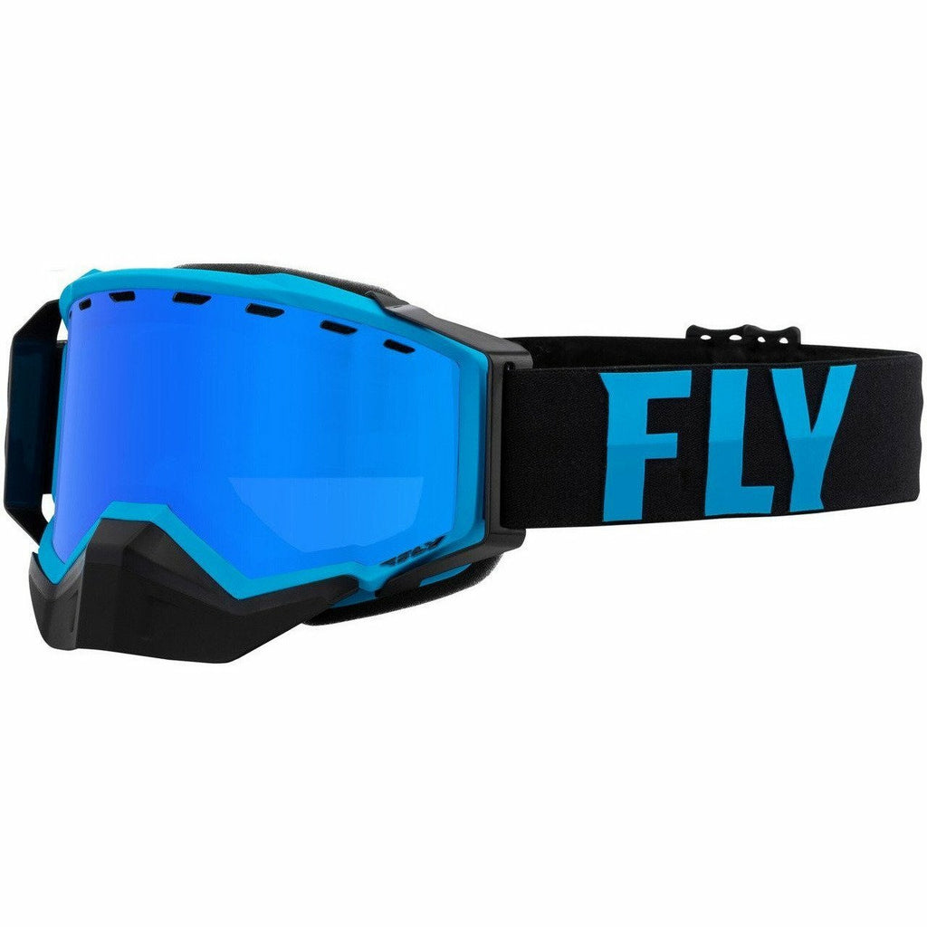 Fly Racing Zone Snow Goggle 21 Fly Racing 2021 Blue/Black W/Sky Blue Mirror/Blue Lens 21