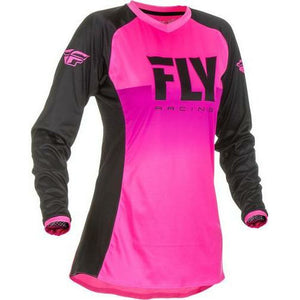 Fly Racing Woman's Lite Jersey Jersey Fly Racing Neon Pink/Black Youth Small