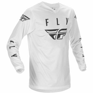 Fly Racing Youth Universal Jersey 21 Fly Racing 2021 WHITE/BLACK YX