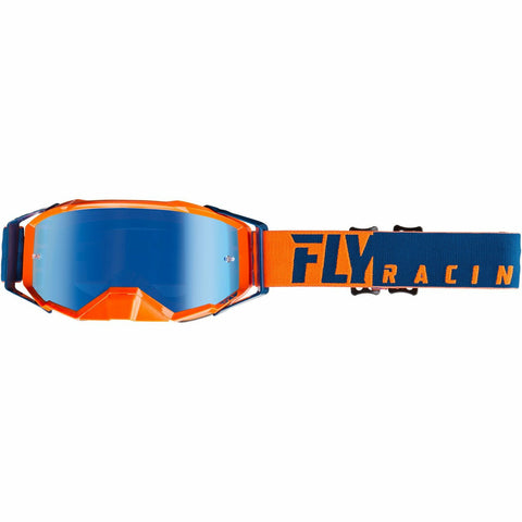 Fly Racing 2019 Zone Pro Goggle Goggles Fly Racing ORANGE/BLUE W/BLUE MIRROR LENS