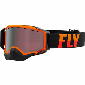 Fly Racing Zone Snow Goggle 21 Fly Racing 2021 Orange/Black W/Silver Mirror/Rose Lens 21