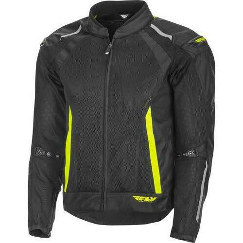 Fly Racing Coolpro Mesh Jacket 21 Jacket Fly Racing Black/Hi-Vis 21 2X