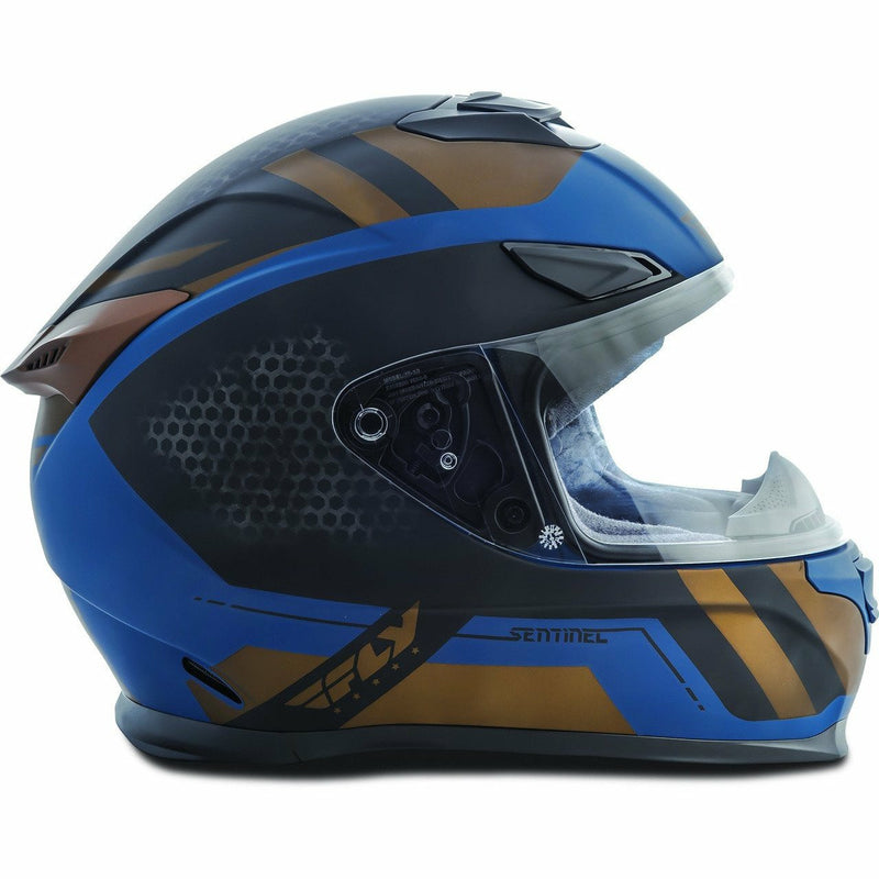 Fly Racing Sentinel Mesh Street Helmet Helmet Fly Racing TEAL/GOLD XS