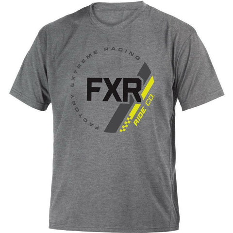 FXR Ride Youth T-Shirt 2020 T-Shirt FXR 2020 Grey Heather/Hi Vis S