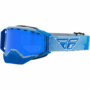 Fly Racing Zone Snow Goggle 21 Fly Racing 2021 Grey/Blue W/Sky Blue Mirror/Blue Lens 21