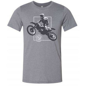 MFP Moto 21 Tee Casual MoreFreakinPower Heather Gray SM