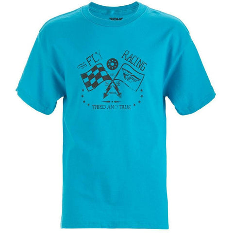 Fly Racing Youth Tried and True Tee T-Shirt Fly Racing TURQUOISE YM