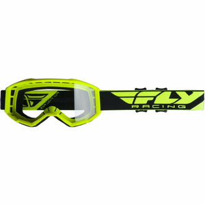 Fly Racing 2019 Focus Goggle Goggles Fly Racing HI-VIS YELLOW W/CLEAR LENS ADULT