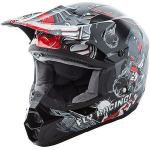 Fly Racing Kinetic Invazion Youth Helmet Helmet Fly Racing GREY YL