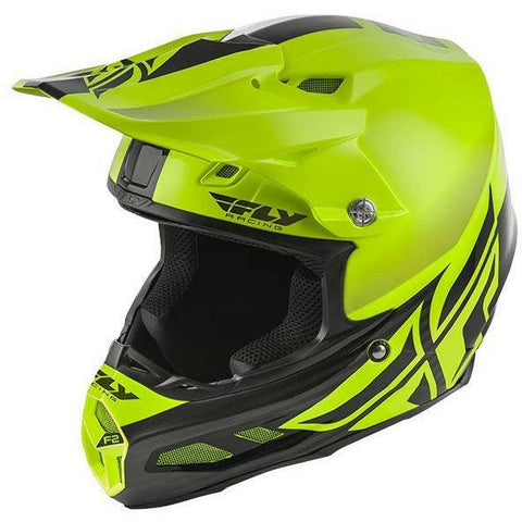 Fly Racing F2 Carbon MIPS Shield Helmet Helmet Fly Racing HI-VIS/BLACK 2X