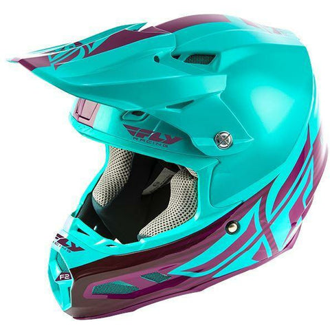 Fly Racing F2 Carbon MIPS Shield Helmet Helmet Fly Racing SEAFOAM/PORT XS