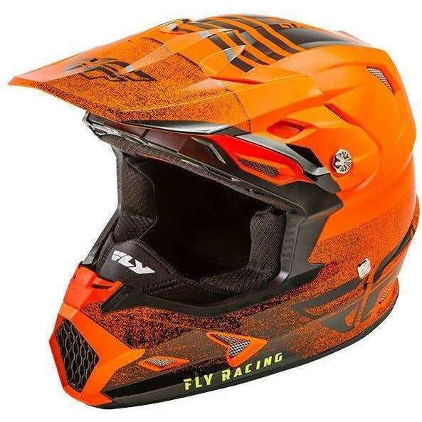 FLY RACING TOXIN MIPS C/W EMBARGO HELMET Helmet Fly Racing ORANGE/BLACK X-Small